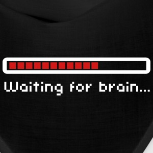 Waiting for brain (loading bar) / Funny humor Caps - Bandana