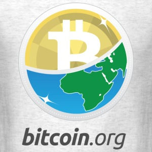 Bitcoin Globe - Men's T-Shirt