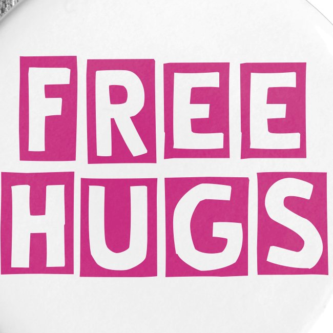 """FREE HUGS"" Large Button 5-Pack"