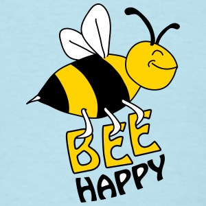 Bee Happy T-Shirts - Men's T-Shirt