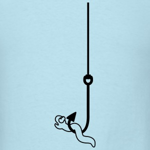 Worm On The Hook T-Shirts - Men's T-Shirt