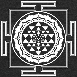 Shri Yantra - Cosmic Energy Conductor   T-Shirts - Unisex Tri-Blend T-Shirt by American Apparel