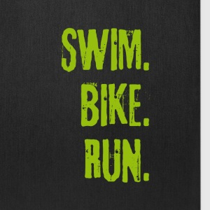 Triathlon Swim Bike Run (green) Bags & backpacks - Tote Bag