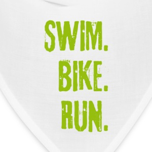 Triathlon Swim Bike Run (green) Caps - Bandana