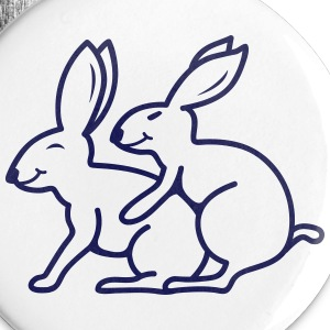 Sexy Rabbits Buttons - Large Buttons