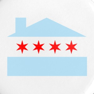 Chicago House Flag Buttons - Large Buttons