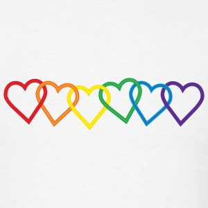 Rainbow Heart Chains T-Shirts - Men's T-Shirt
