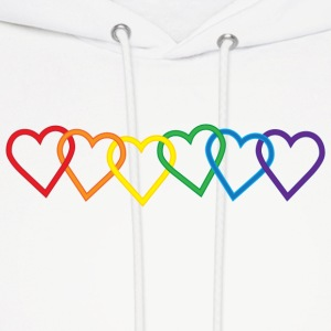 Rainbow Heart Chains Hoodies - Men's Hoodie
