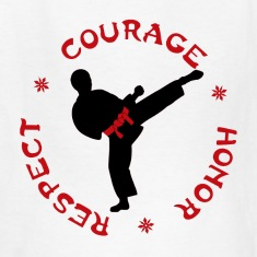 Courage Honor Respect Boys T for Martial Arts kids