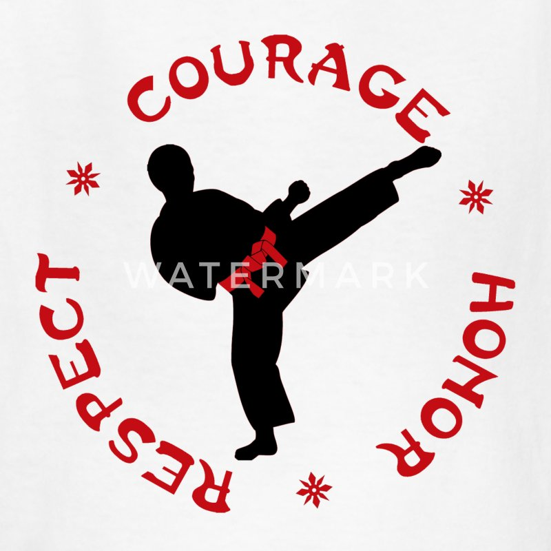 Courage Honor Respect Boys T for Martial Arts kids - Kids' T-Shirt