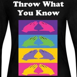 DST Throw What You Know - Women's Long Sleeve Jersey T-Shirt