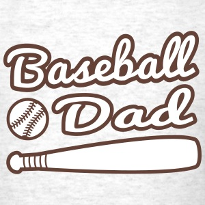 baseball dad with baseball and bat T-Shirts - Men's T-Shirt