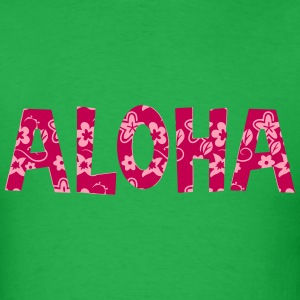 aloha flower pattern T-Shirts - Men's T-Shirt