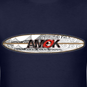 AMOK - tribal breaker surfboard - Men's T-Shirt