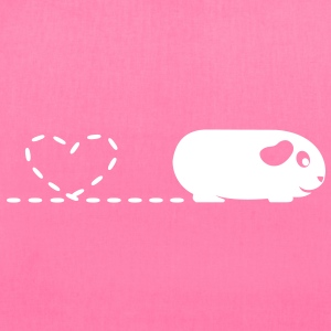 'Pooping Heart' Guinea Pig Tote Shopping Bag - Tote Bag