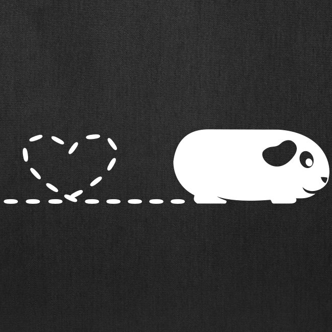 'Pooping Heart' Guinea Pig Tote Shopping Bag