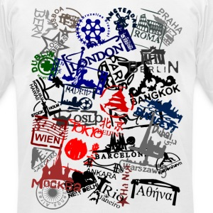 passport stamps T-Shirts - Men's T-Shirt by American Apparel