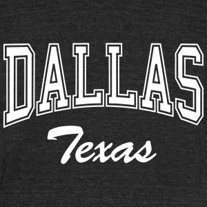 Dallas Texas T-Shirts - Unisex Tri-Blend T-Shirt by American Apparel