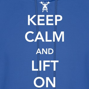 Keep Calm and Lift On Hoodies - Men's Hoodie