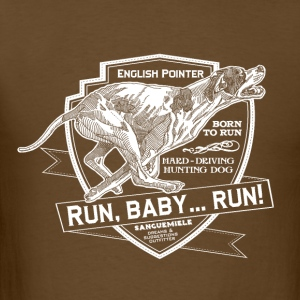 running_pointer_on_dark T-Shirts - Men's T-Shirt