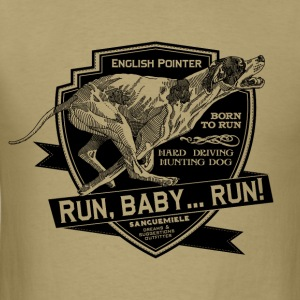 running_pointer_on_light T-Shirts - Men's T-Shirt