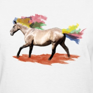 horse with rainbow colours Women's T-Shirts - Women's T-Shirt