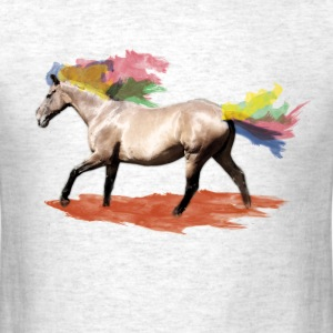 horse with rainbow colours T-Shirts - Men's T-Shirt