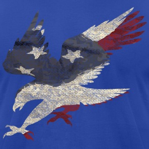 Old Glory American Flag Eagle T-Shirts - Men's T-Shirt by American Apparel