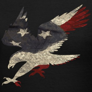 Old Glory American Flag Eagle Women's T-Shirts - Women's V-Neck T-Shirt