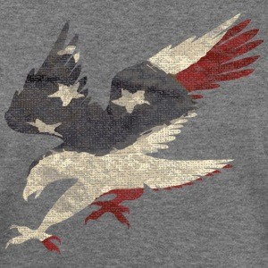 Old Glory American Flag Eagle Long Sleeve Shirts - Women's Wideneck Sweatshirt