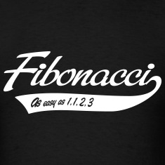 Fibonacci. As easy as 1, 1, 2, 3 T-Shirts