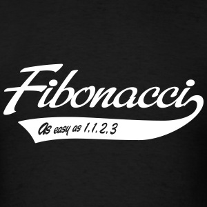 Fibonacci. As easy as 1, 1, 2, 3 T-Shirts - Men's T-Shirt