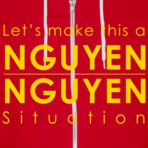 Let's make this a NGUYEN/NGUYEN situation Sweatshi - Unisex Fleece Zip Hoodie by American Apparel