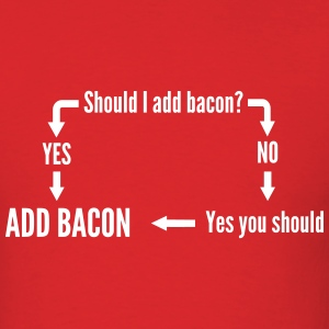 Should you eat bacon diagram T-Shirts - Men's T-Shirt