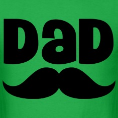 Dad Father's Day Mustache Mens T-shirt