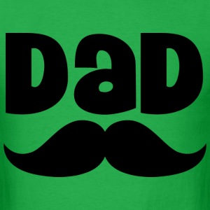 Dad Father's Day Mustache Mens T-shirt - Men's T-Shirt