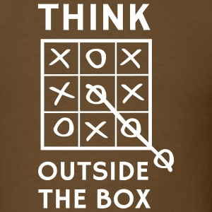 Think outside the box tic tac toe T-Shirts - Men's T-Shirt
