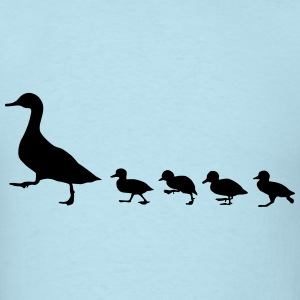duck family, duck and ducklings T-Shirts - Men's T-Shirt