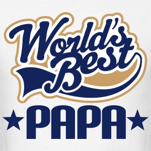 Papa T-Shirt - Papa (Worlds Best) Men - Men's T-Shirt
