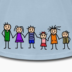 large family - patchwork family - colorful T-Shirts