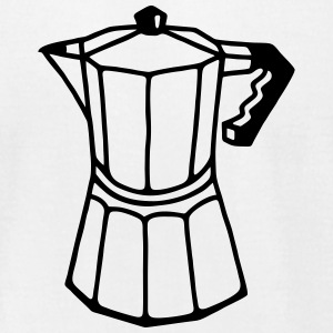Italian espresso coffee pot T-Shirts - Men's T-Shirt by American Apparel