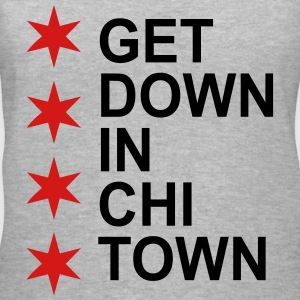 Get Down in Chi Town Women's T-Shirts - Women's V-Neck T-Shirt