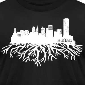 Buffalo New York Skyline  T-Shirts - Men's T-Shirt by American Apparel