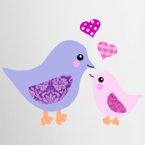 Mother bird and pink girl chick Bottles & Mugs - Coffee/Tea Mug