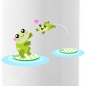 Mother and child cute frogs Bottles & Mugs - Water Bottle