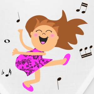 Cute dancing girl cartoon in hot pink dress Caps - Bandana