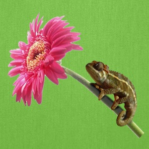 Chameleon lizard on hot pink flower Bags & backpacks - Tote Bag