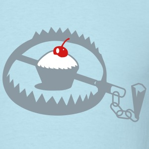 steel trap with cupcake T-Shirts - Men's T-Shirt
