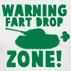 WARNING! fart DROP ZONE! stinky military tank Long Sleeve Shirts - Men's Long Sleeve T-Shirt by Next Level