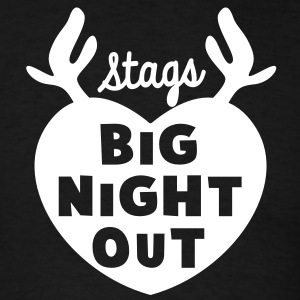 STAGS big NIGHT out wedding Bachelor english STAG T-Shirts - Men's T-Shirt